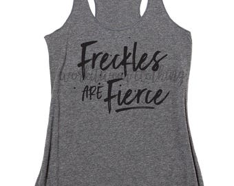 Freckles Are Fierce. Workout Tank. Yoga Tank. Freckles Shirt. Freckles Tank. Handle It. Fear Freckles. Pilates. Barre. Funny Workout.