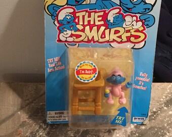 Baby Smurf Vintage 1996 In Box