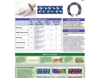 Chainmaille Tutorial- Mngwa - PDF - Chainmail Weave - Intermediate