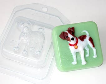 Jack Russell Terrier mold, dog mold, soap mold, puppy mold, bath bomb mold, plastic mold, christmas mold, square mold, chocolate mold