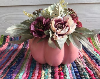 Pink & Maroon Spring Floral Arrangement Centerpiece