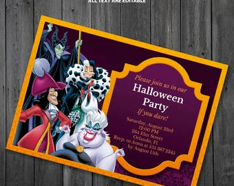 Disney Villains Party Invitation
