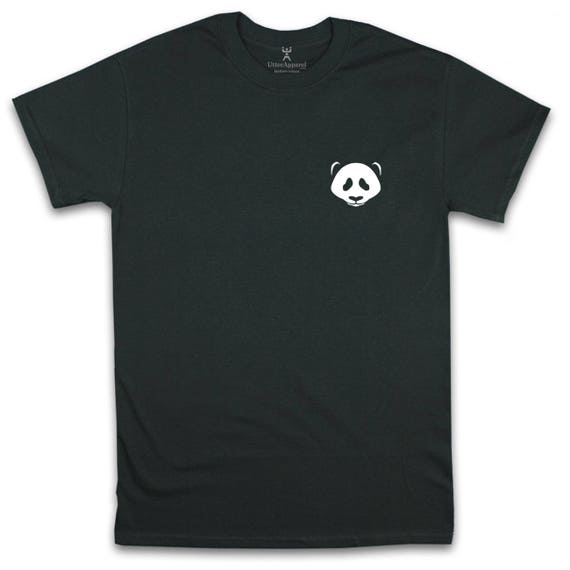 Panda t shirt, animal crew neck shirt, geek tee, mens, unisex, womens fits sizes S-2XL many colours