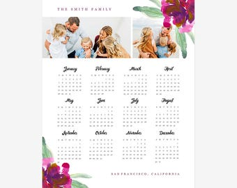 2017 calendar template 5x7 desktop calendar photoshop. Black Bedroom Furniture Sets. Home Design Ideas