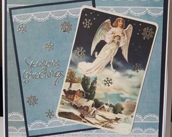 Large Handmade Christmas  Card - Mum, Dad, Wife , Husband, Sister, Friend