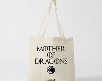 X479Y tote bag the girl with dragon, the girl with the dragon, game of thrones, cotton bag, tote bag, khaleesi dragon, mother of dragons