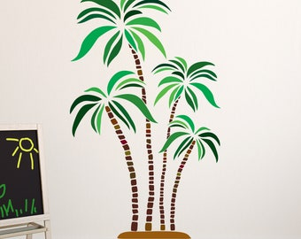 Green And Brown Palm Tree Wall Decal   Floral Wall Sticker, Kidu0027s Room  Vinyl Wall Part 96
