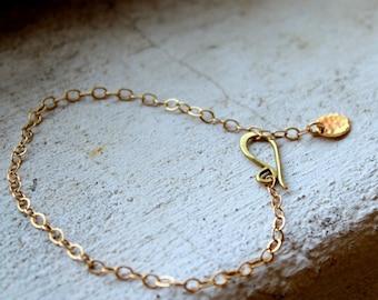 Dainty Gold Bracelet Adjustable bracelet dangle bracelet gold chain bracelet everyday jewelry dainty jewelry simple gold bracelet gold fill