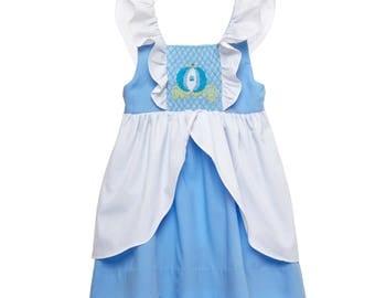 Smocked Cinderella Flutter Sleeve Dress