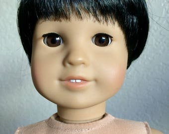 Customized AG Boy Doll, with black hair & brown eyes