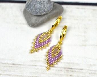 mother-gift-ideas-for-women-gift-for-mom-from-daughter simple earrings dangle earrings romantic gift beaded earrings seed bead earrings boho