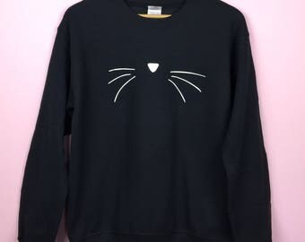 Christmas Sweater. Christmas Gift. Gift For Her. Cat Sweatshirt. Meowy Christmas. Cat Lover Gift. Xmas Gift. Cat Christmas Sweater.