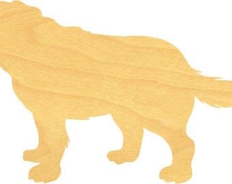 St Bernard Dog Shapes and Wood Cutouts - Large Sizes up to 39 Inches - for Projects or Other Use