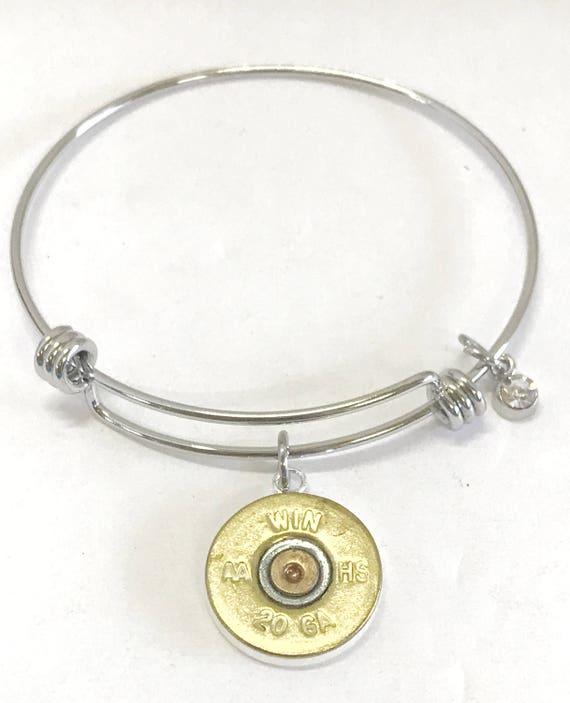 Shotgun Shell Bracelet, 20 Gauge Shotgun Shell Bracelet, Shotgun Shell Jewelry, Shooting Sports Jewelry, Shooting Jewelry Gifts For Her