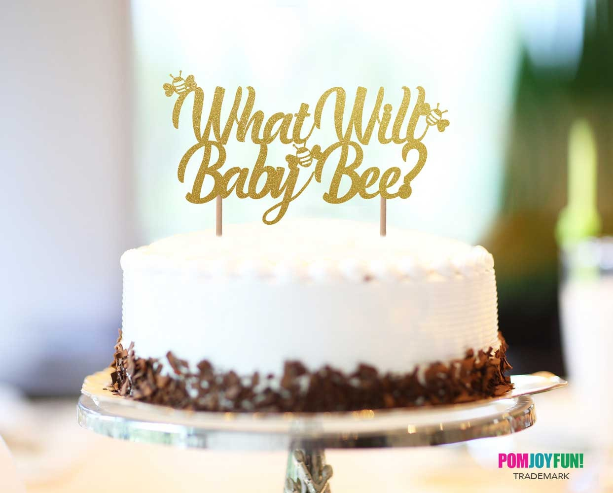What Will Baby Bee Cake Topper Gender Reveal Theme Party Ideas Picks