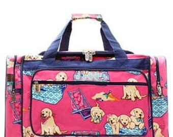 Personalized doggie Duffle, Monogram Duffle, Duffle Bag Persoanlized, Monogram Duffle Bag, School Duffle, Sports bag, large duffle,dogs,