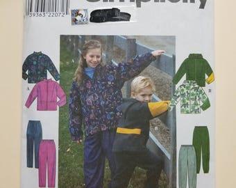 Simplicity Pattern Child Size 8-14  #8342