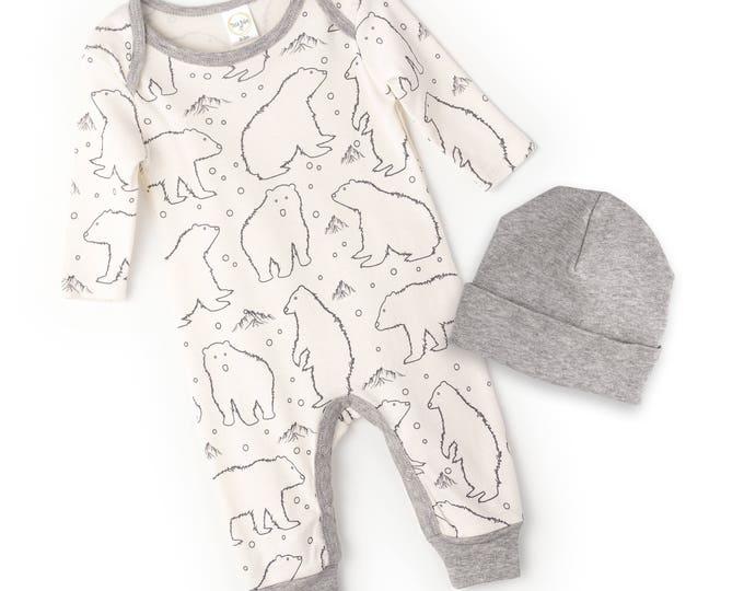 Newborn Baby Coming Home Outfit, Newborn Baby Bodysuit, Baby Boy Girl Take Home Romper, Newborn Bodysuit Polar Bears Tesa Babe RP810BRHG0000