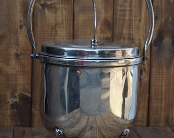 English Silver Ice Bucket - Made in the USA