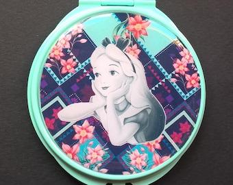"""Pocket mirror or bag """" Alice """" in Wonderland"""