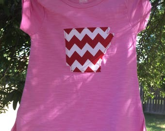 ruffled Arkansas shirt
