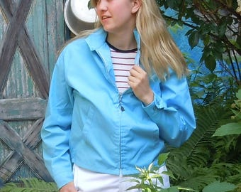 "Jackets from the 1960's / 4  Never-worn New Old Stock /  Matching Light blue Jackets from ""Sir Jac"" / Mens Mediums"