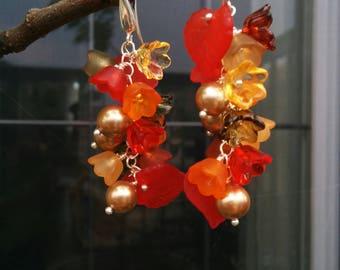 Watercolors of Fall Earrings