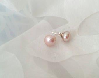 Pink Pearl Studs