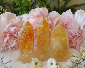 Polished Citrine Crystal Points
