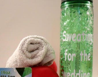 19oz gym Water Bottle / Sweating For Wedding / Personalized Tumbler / Workout / tumbler / Custom Bottle / Freeze Gel / Insulated / Cold