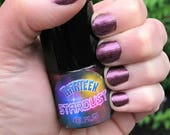 THIRTEEN - Burgundy Wine Sparkle Color Stardust Doctor Who Inspired Nail Polish - Tea Scented - 5-Free & Cruelty Free