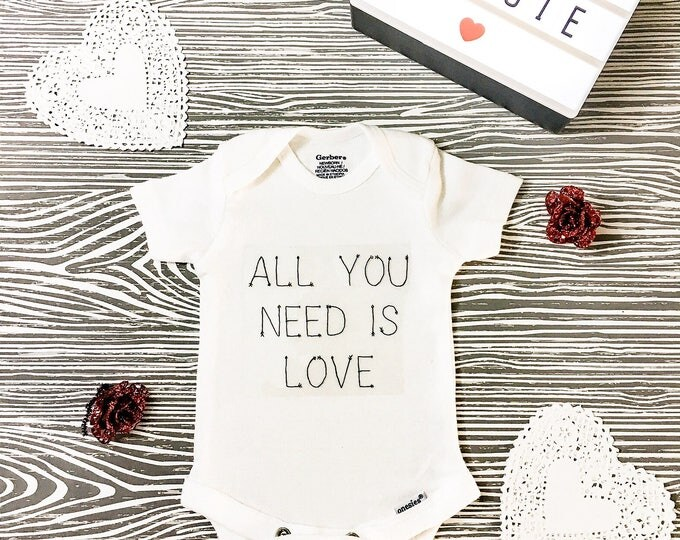 All You Need Is Love Onesie // Valentine's Day Onesie