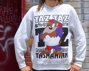 90's TAZ light grey sweatshirt