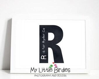 Custom Name in a Letter Print