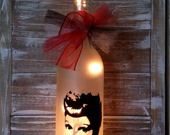 I Love Lucy Lucille Ball/Lamp/Lighted Wine Bottle/Glass/Nightlight/gift/Decoration/Decor
