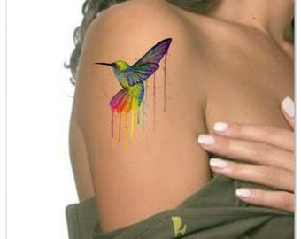 Temporary Tattoo Watercolor Owl Waterproof Ultra Thin