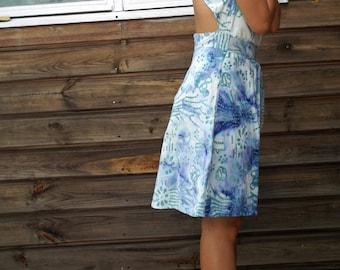 Louise Batik dress blue sky