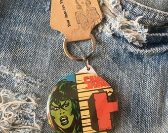 Savage She Hulk, mirror keychain, 2.25""