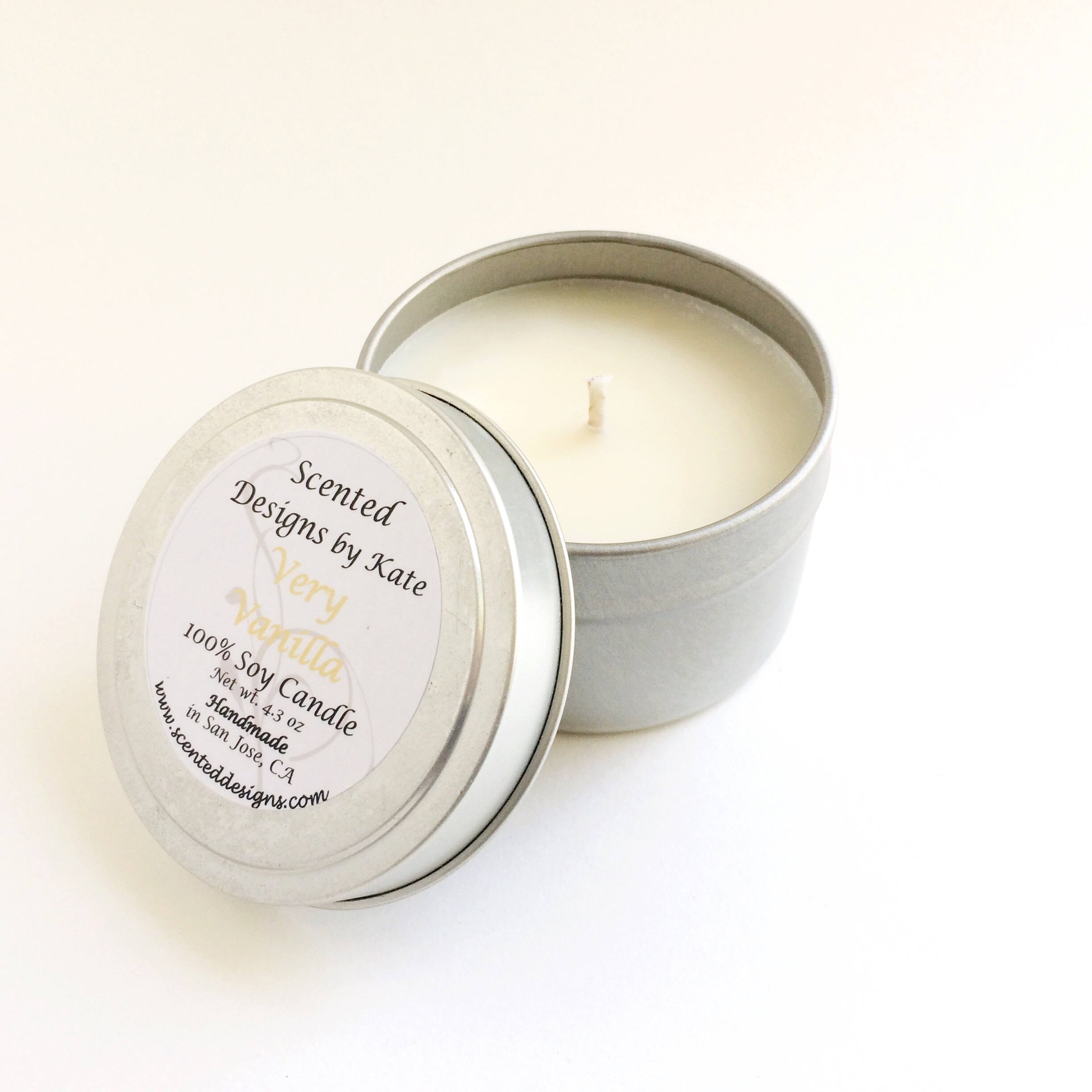 Vanilla Soy Candle | 8 Oz Mason Jar Candle | 6 Oz Travel Tin Candle ...