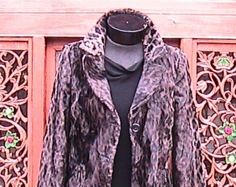 Small Vintage Faux Leopard Jacket Small
