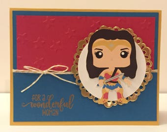 DC Wonder Woman greeting card