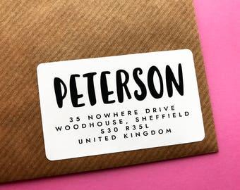 Return Address Label, Bold Address Sticker, Personalised Return Address Label, Business Address Sticker, Simple Return Address Stickers