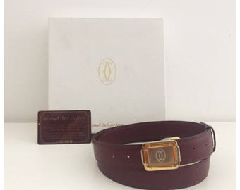 CARTIER - 90s Must De Cartier Leather Belt