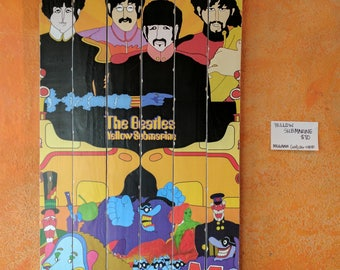 Beatles Large Wood Art