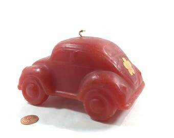 Hallmark Volkswagen Bug Beetle Candle Vintage Iconic Hallmark Collectable Red Unused Candle Gift For Him Her