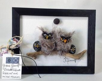 Pebble and mixed medium art - Exclusite artwork - 445