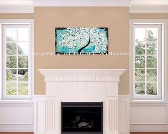 Impasto Painting, Acrylic Impasto, Original Acrylic, Tree Art, Abstract Flower