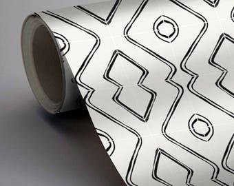 SALE!! Berber Inspired Harlow Wallpaper in Black - Matte Removable Vinyl Wallpaper - Peel & Stick - No Glue, No Mess