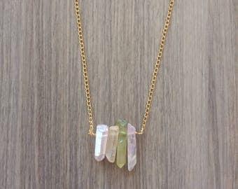 Daring-Do - Pastel Quartz Necklace