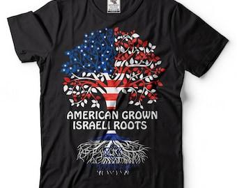 Israel T-shirt American Grown Israeli Roots Tee shirt Cultural heritage Israeli nationality Country T-shirt